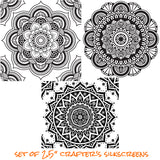Silkscreen Stencil Mini Mandala Set For Polymer Clay And Mixed Media - Polymer Clay TV tutorial and supplies