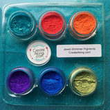 Pigments Mica Powders Jewel for Polymer Clay and Mixed Media Color Shimmer - Polymer Clay TV tutorial and supplies