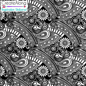 Silkscreen Perfectly Paisley Stencil for Polymer Clay, Art Jewelry and Mixed Media - Polymer Clay TV tutorial and supplies