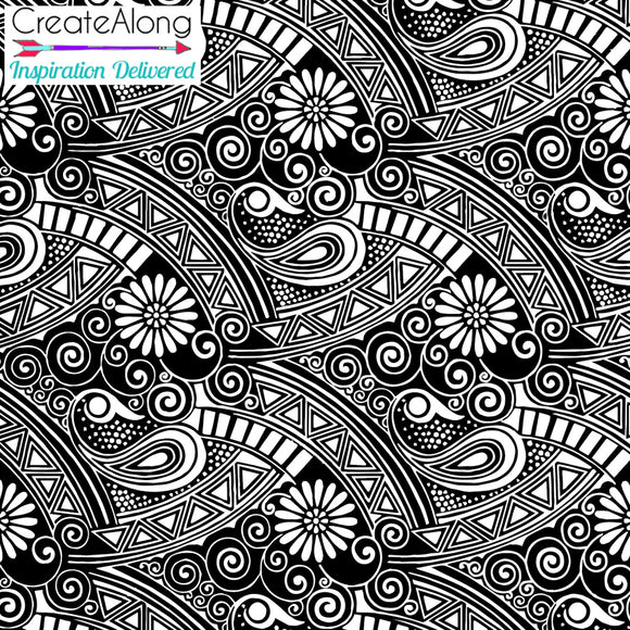 Silkscreen Perfectly Paisley Stencil for Polymer Clay and Mixed Media