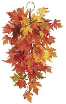 TenWaterloo 30 Inch Fall Artificial Maple Leaf Door Swag