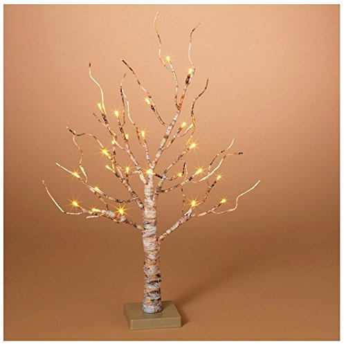 Gerson Company LED Birch Christmas Tree White 24 in. 1 pk