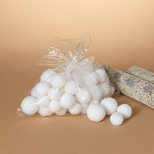 48 Pack White Plush Indoor Snowballs Holiday Christmas Decoration - 3 Sizes