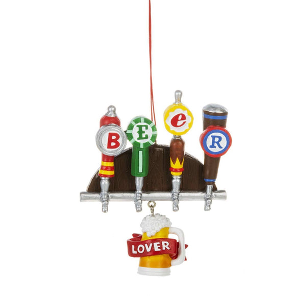 CBK Home Accents Beer Lover Tap Beer Ornament.
