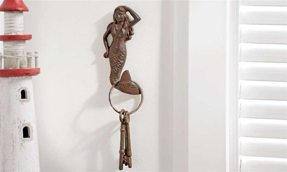 Cast Iron Mermaid Wall Hook