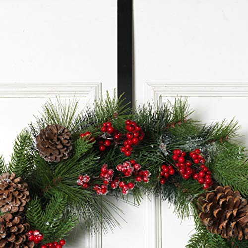 "Sterling Metal Wreath Hanger 12"" L Black"
