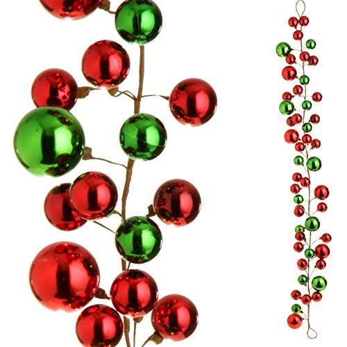 Christmas Ball Garland.Raz Imports 4 Ball Garland