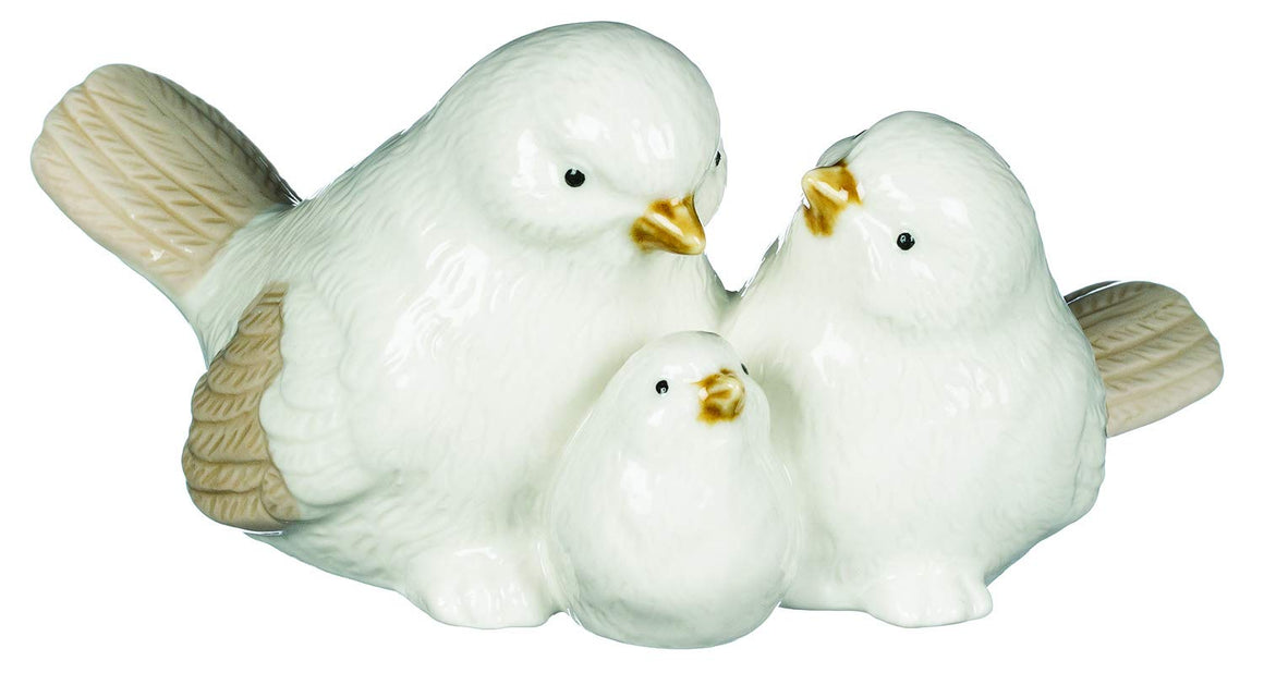 TenWaterloo Ceramic Dove Family, Mother, Father and Baby, 3 inches x 6 Inches
