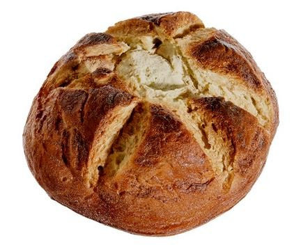 Artificial Round French Bread Loaf 8 Inches Diameter x 3.5 Inches High, Baguette