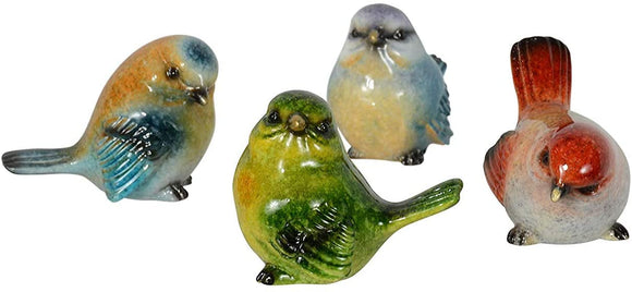 Ten Waterloo Set of 8 Small Birds, Songbird Figurines in Realistic Colors and Poses - 1.75 inches high x 2 Inches