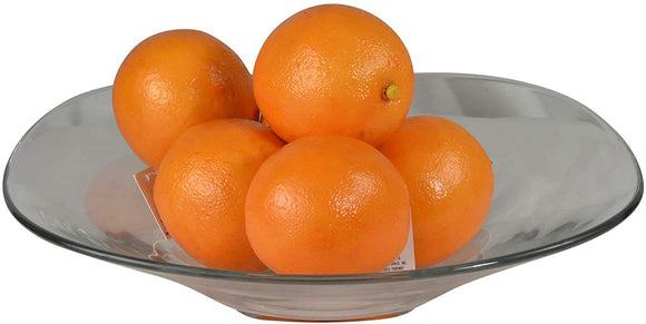 Artificial Oranges, Lot of 6, Decorative Lifelike Oranges Bowl Filler, Realistic Coloring and Texture