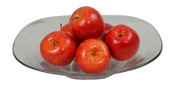Artificial Apples, Lot of 6, Decorative Lifelike Apples Bowl Filler, Realistic Coloring and Texture