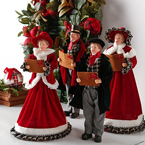RAZ Imports 18-Inch Christmas Carolers - Set of 4