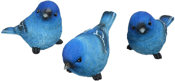 TII Set of 3 Bluebird Resin Figurines, 3.5 Inches, 3 Poses