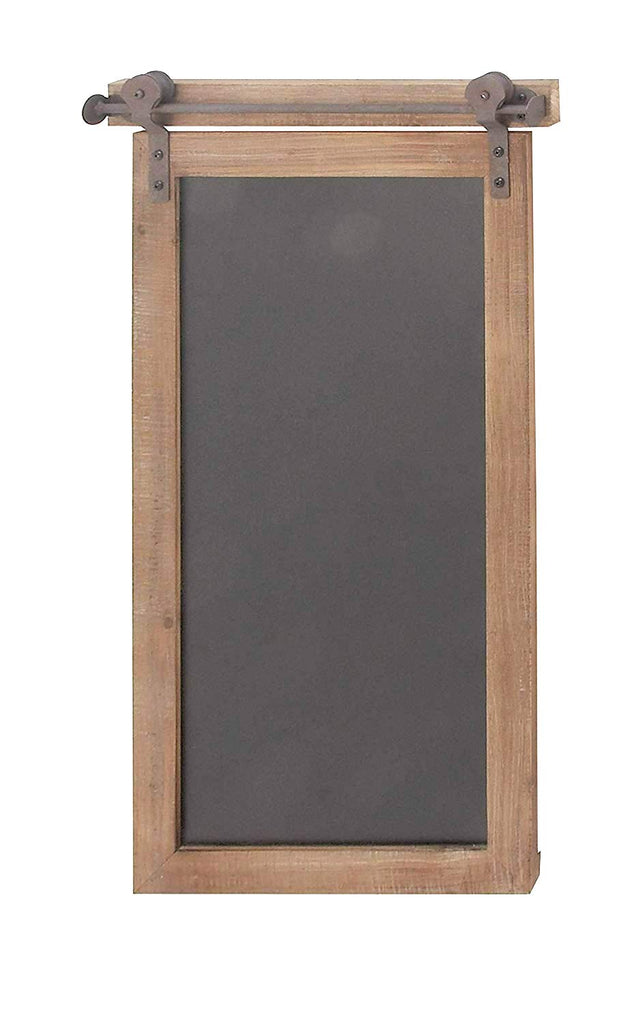 Ten Waterloo Rectangular Wood and Metal Chalkboard, 28 Inches High x 16 Inches Wide, Brown/Black