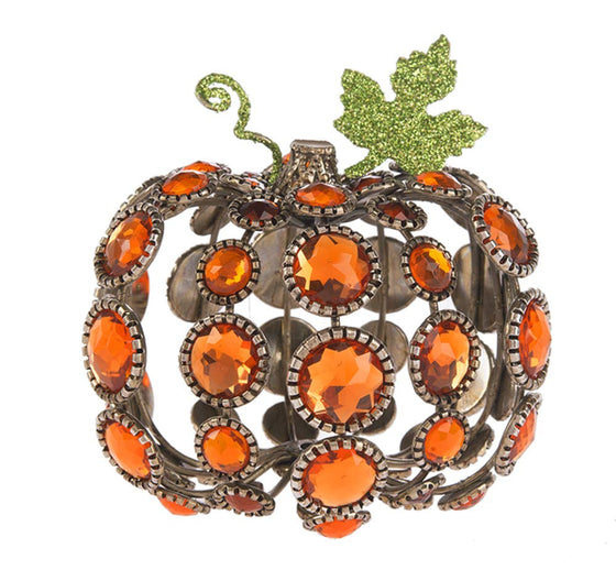 Ganz 3.5 Inch Acrylic Pumpkin Decor Centerpiece Tabletop Ornament Topper 3D Pumpkin