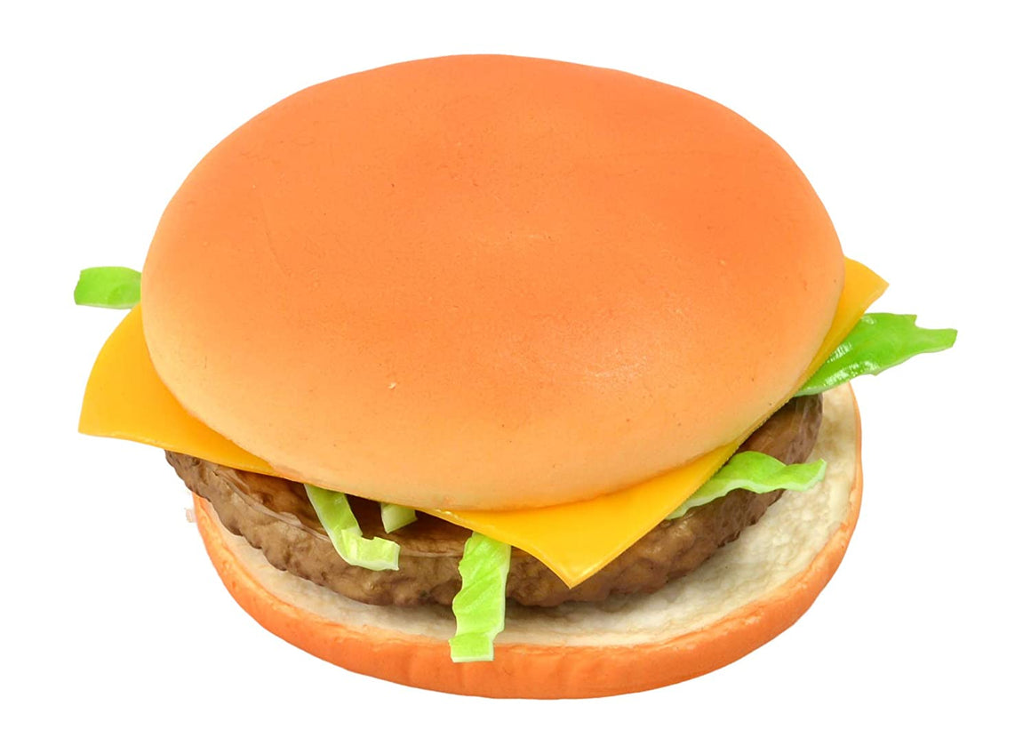 Allstate Fake Hamburger for Display, Artificial Cheeseburger, Faux Hamburger