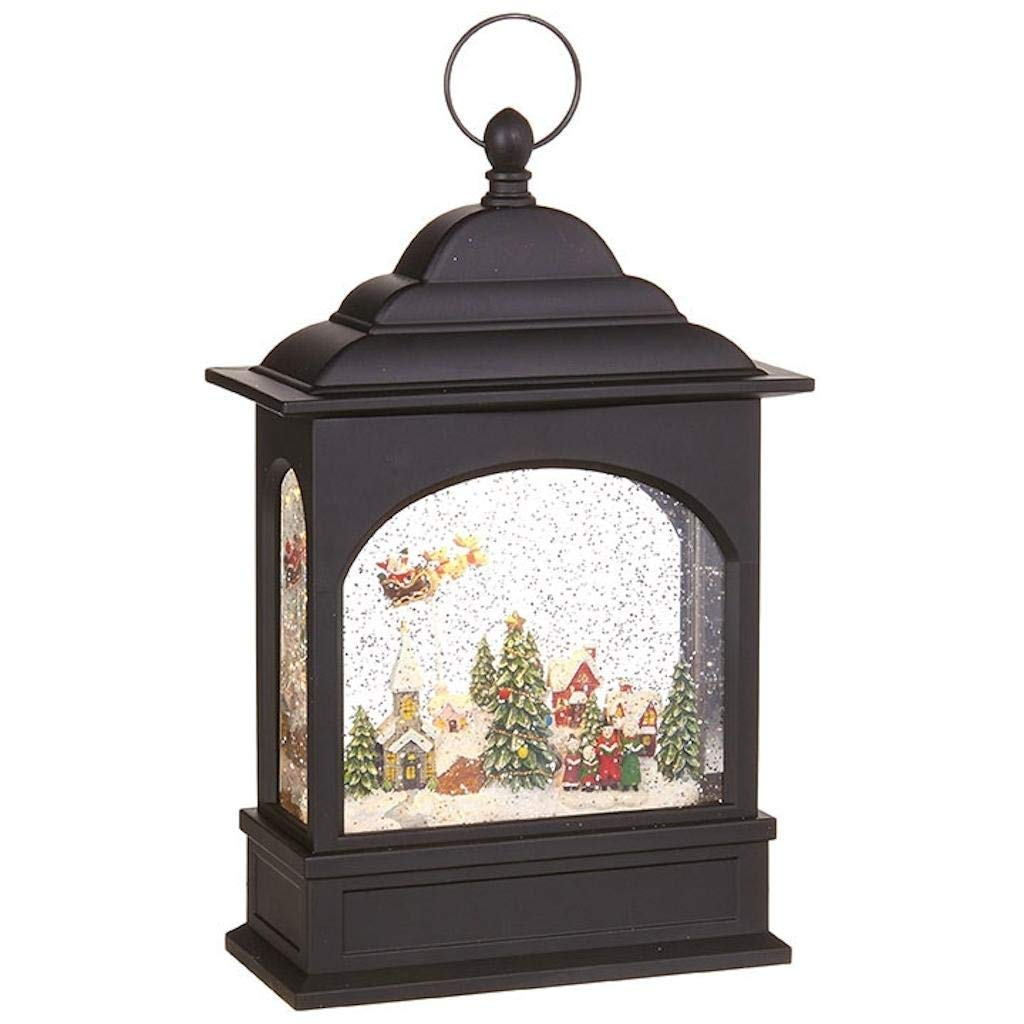 "RAZ Imports 11"" FLYING SANTA LIGHTED WATER LANTERN"
