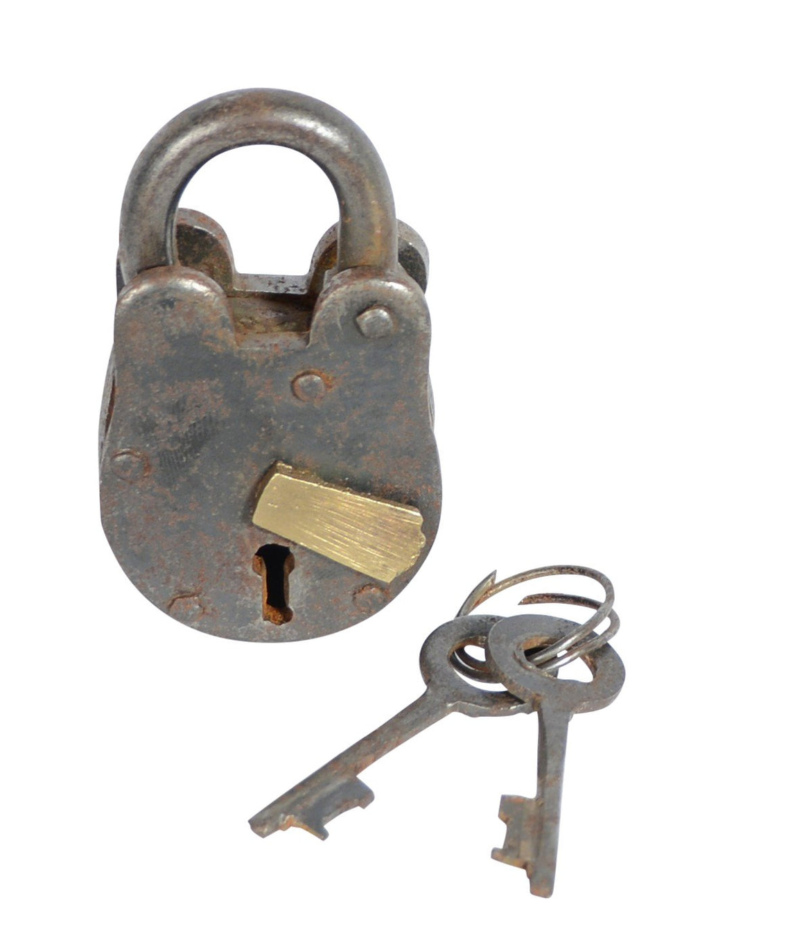 Metal Brass Lock & Keys- 2.75 inches high x 1.5 Inches Wide
