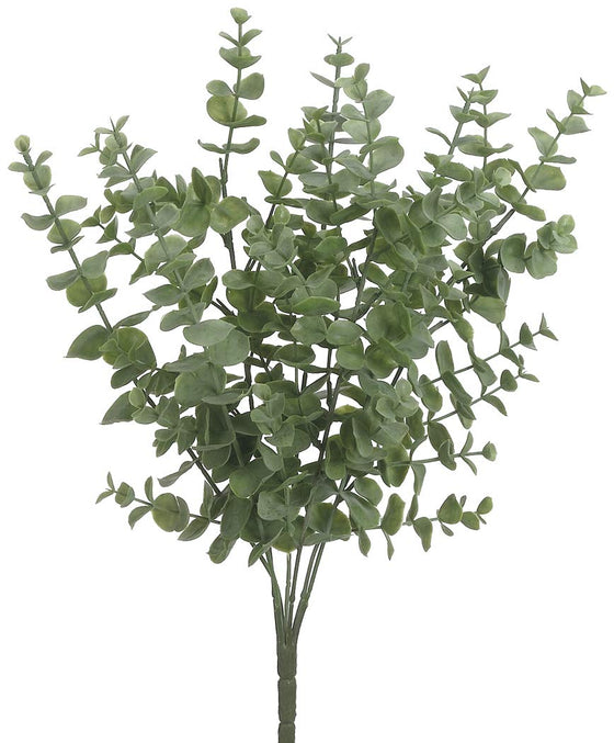 Ten Waterloo 14.5 Inch High Artificial Eucalyptus Bush Stem - Plastic