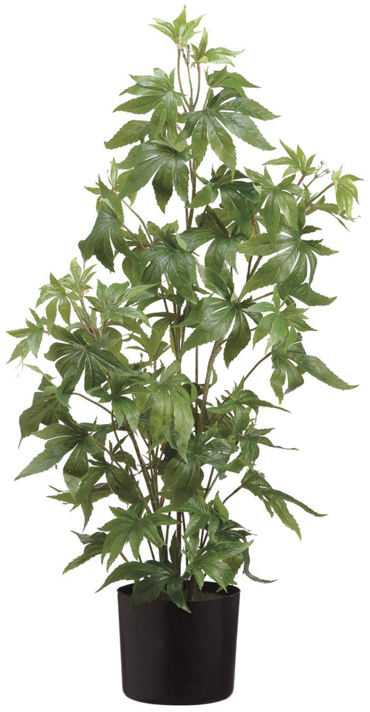 Ten Waterloo Artificial Marijuana Potted Plant 37 Inches High, Cannibus Plant