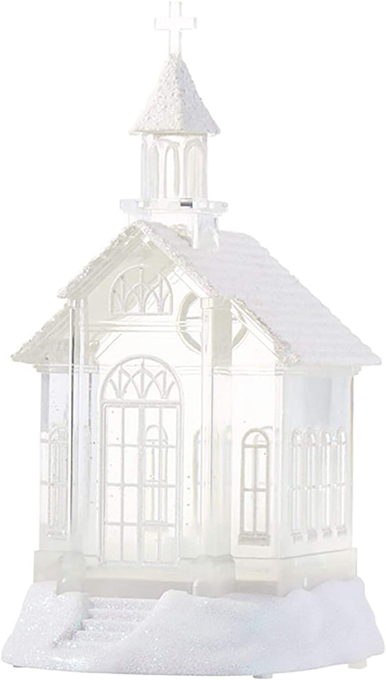 "RAZ Imports 07956-10.5"" Battery Operated Church Water Filled Lantern (Batteries not Included) (10.5"" LIGHTED CHURCH WATER LANTERN (3919039))"