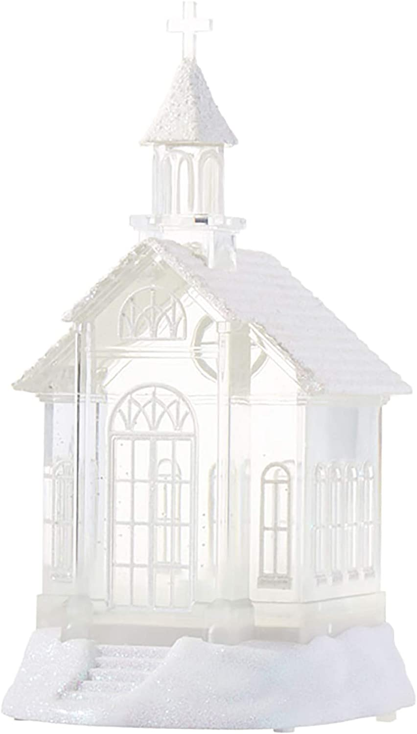 "Imports 07956-10.5"" Battery Operated Church Water Filled Lantern (Batteries not Included) (10.5"" LIGHTED CHURCH WATER LANTERN (3919039))"