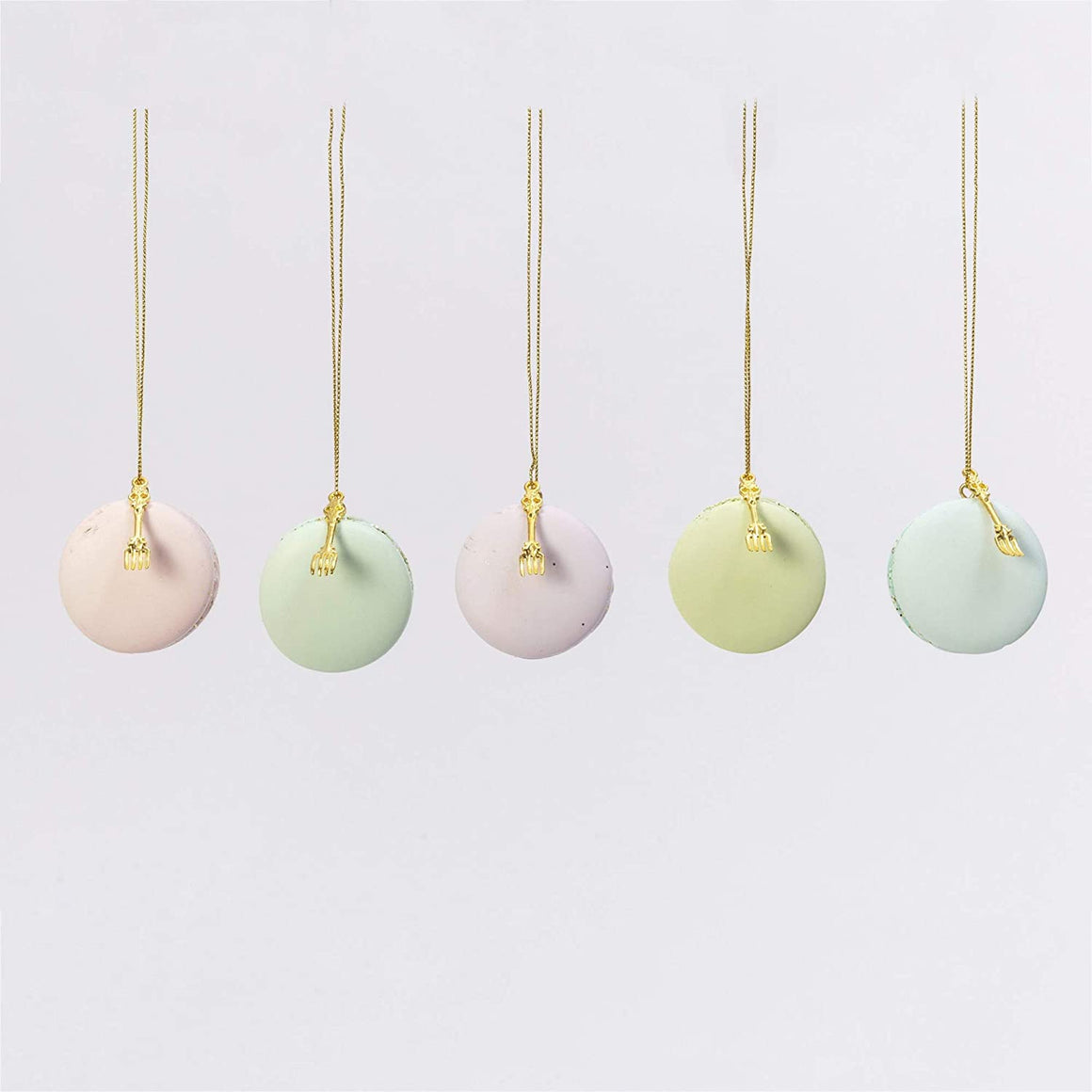 2541260 Resin Macaron Ornaments in Color Box Set of 5, 1.9-inch Height