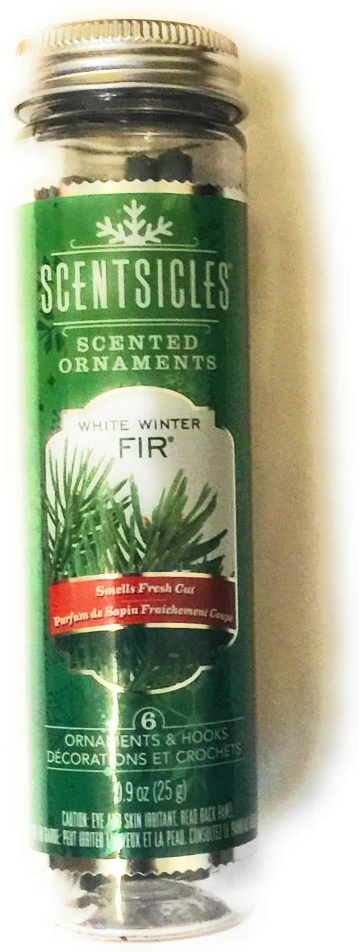 Scentsicles White Winter Fir Ornament Fragrance Sticks (6 Sticks)