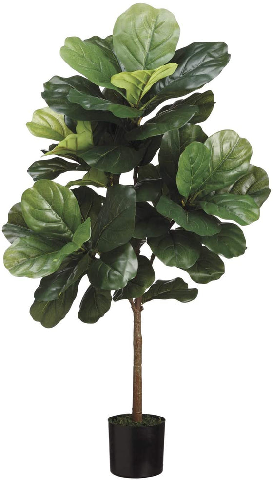 3 Foot Artificial Fiddle Leaf Tree in Pot, Potted Artificial Plant 3 Feet High