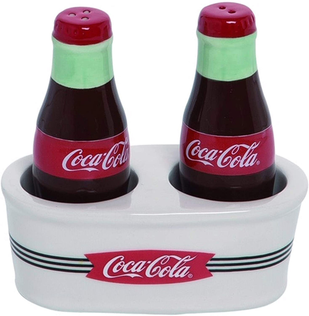 Vintage Red Coca-Cola Salt and Pepper Shaker Set