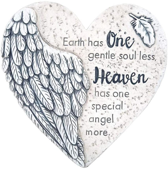 TenWaterloo Heart Memorial Stepping Stone, Off White - Heaven has a Special Angel - 9.5 Inches