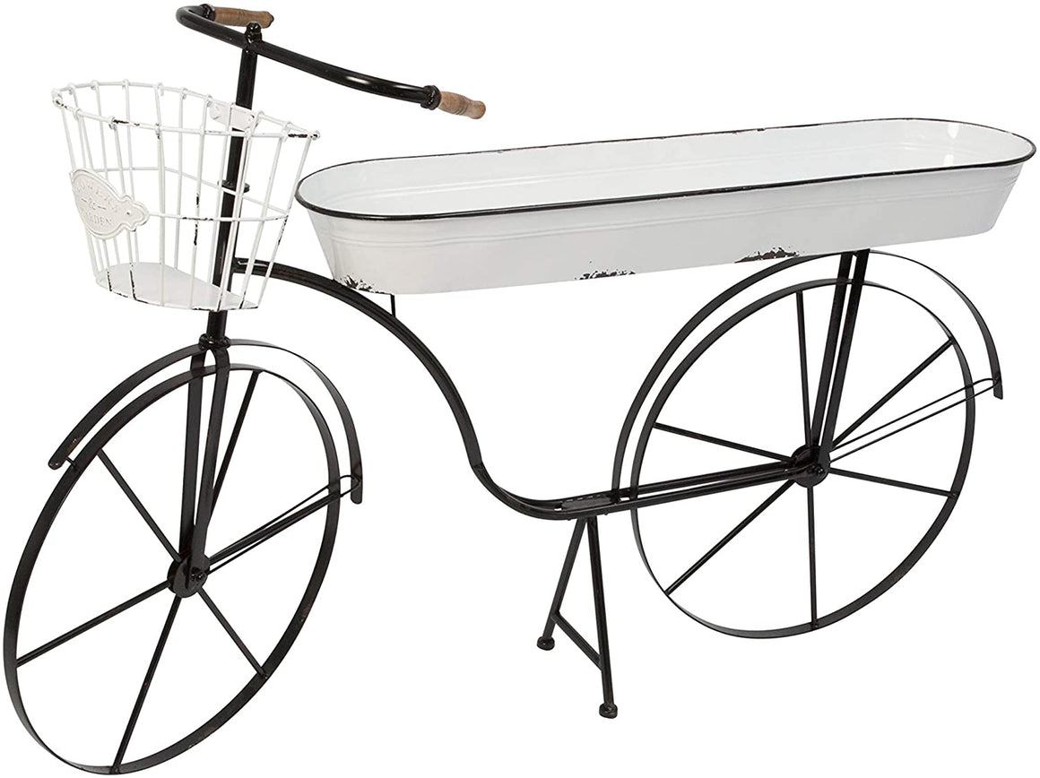 "Gerson International 2527580 46"" L Metal Antique Bicycle w/Home Decor, Black"