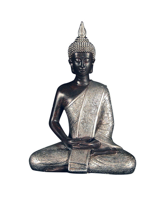 Ten Waterloo 8 inches Tall Thai Buddha Statue, Meditating Peace Harmony Statue