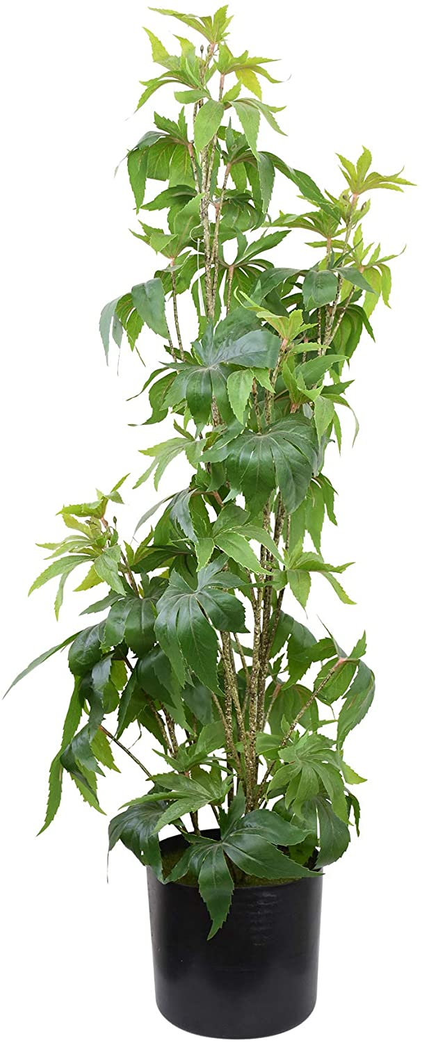 Artificial Cannabis Plant, Potted Plant 3 Feet High, Fake Marijuana Potted Decor Plant