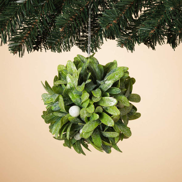 TenWaterloo Mistletoe Kissing Ball - Sparkling Christmas Kissing Ball with Artificial Mistletoe, Hanging Holiday Decoration