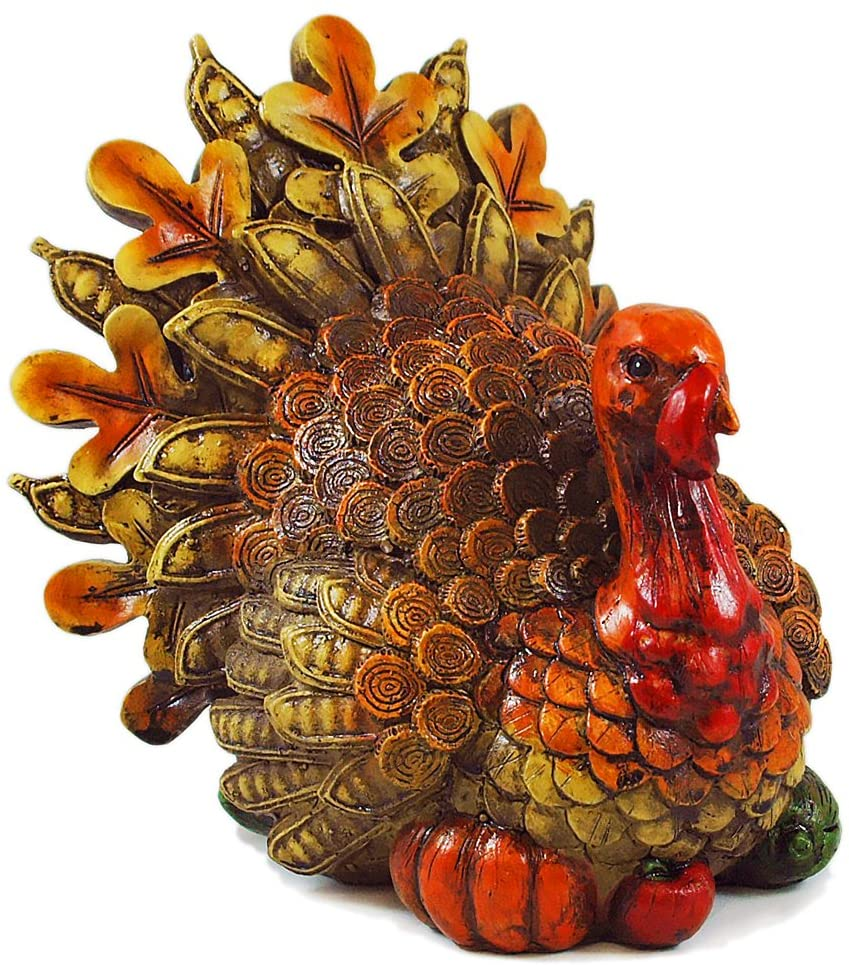 Resin Harvest Turkey Table Figurine