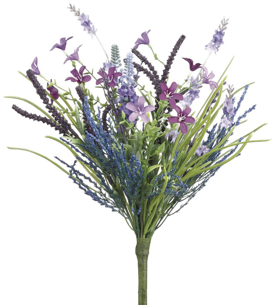 Set of 3 artificial lavender and fern bouquets with spring wild set of 3 artificial lavender and fern bouquets with spring wild flowers mightylinksfo