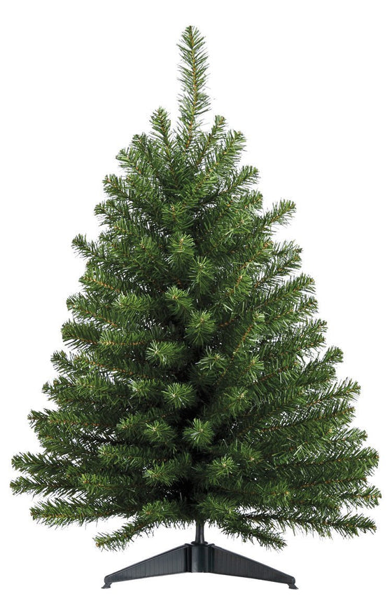 3 Foot High x 22 Inches Wide Artificial Christmas Balsam Pine Tree, 137 Tips On Base