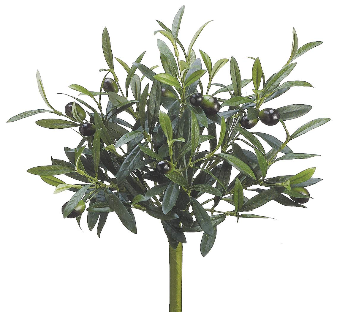 Ten Waterloo 12 Inch Artificial Olive Bush Stem