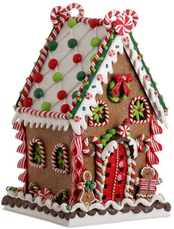 Imports 13.5 in. Gum Drop Gingerbread House