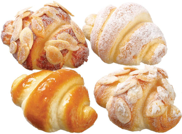 Artificial Mini Croissant Rolls, Fake Sweet Rolls for Display, 4 Pieces
