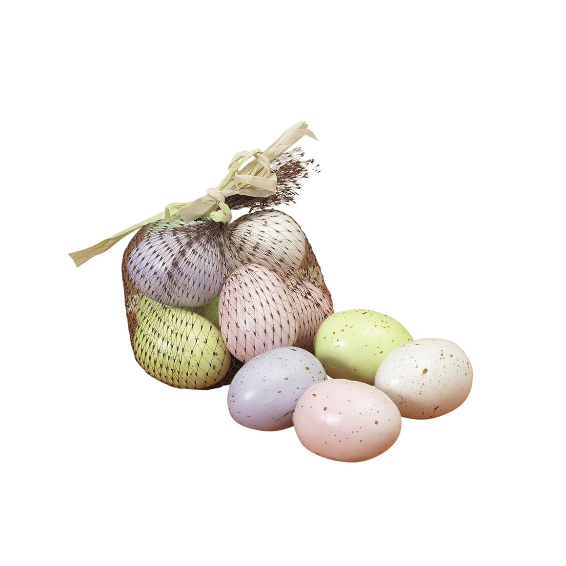 12 Artificial Speckled Easter Eggs in Pastel Colors - 2 Inch Eggs in Lavender, Blue, Green, Pink