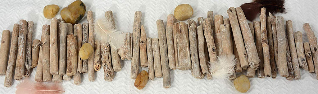 TenWaterloo Natural Driftwood Pieces, 3-6 Inches Long, 50 Pieces, Vase and Bowl Fillers