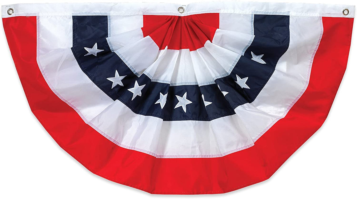 "Gerson American Flag Bunting 48"" Long x 25"" High"