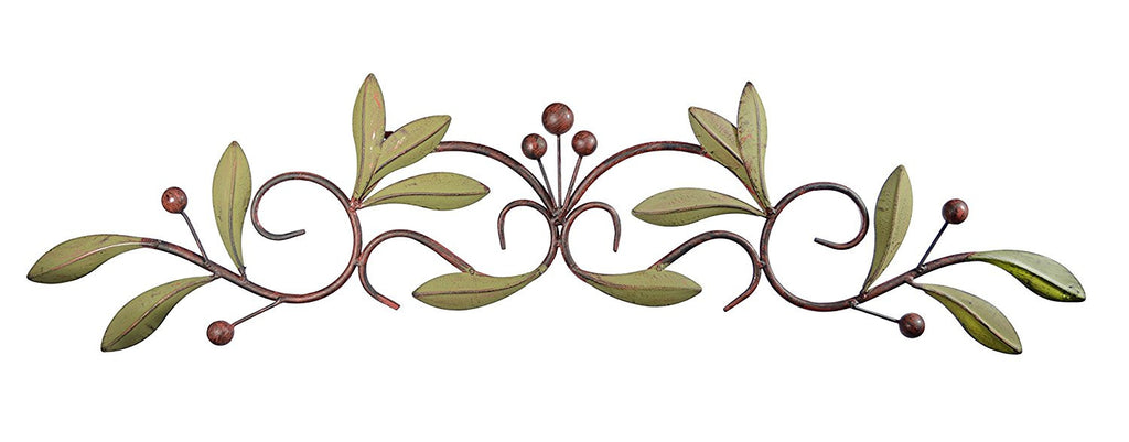 31 inch Wide Leaf and Berry Metal Wall Decor