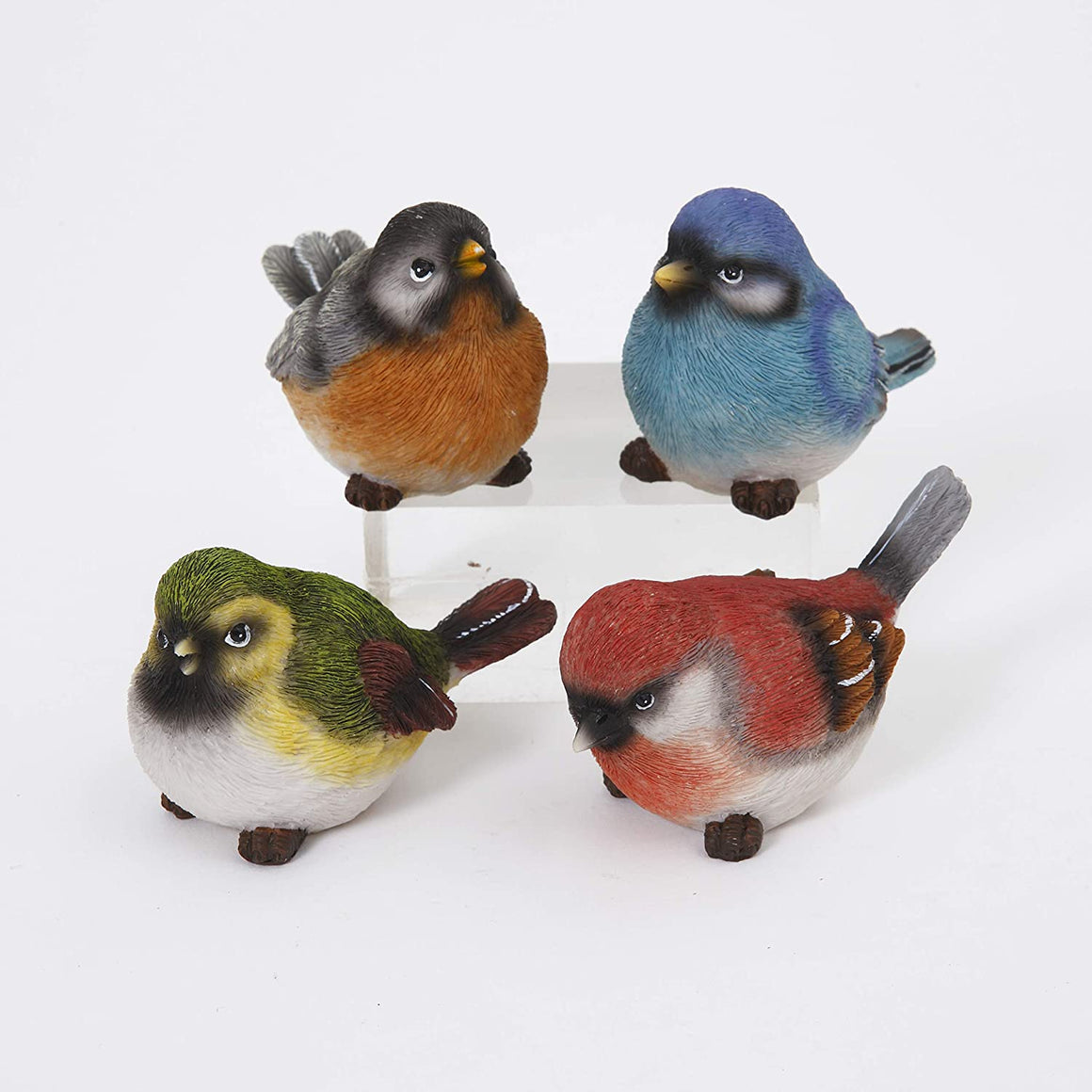 Gerson Spring Song Birds Decorative Figurines - Set of 4
