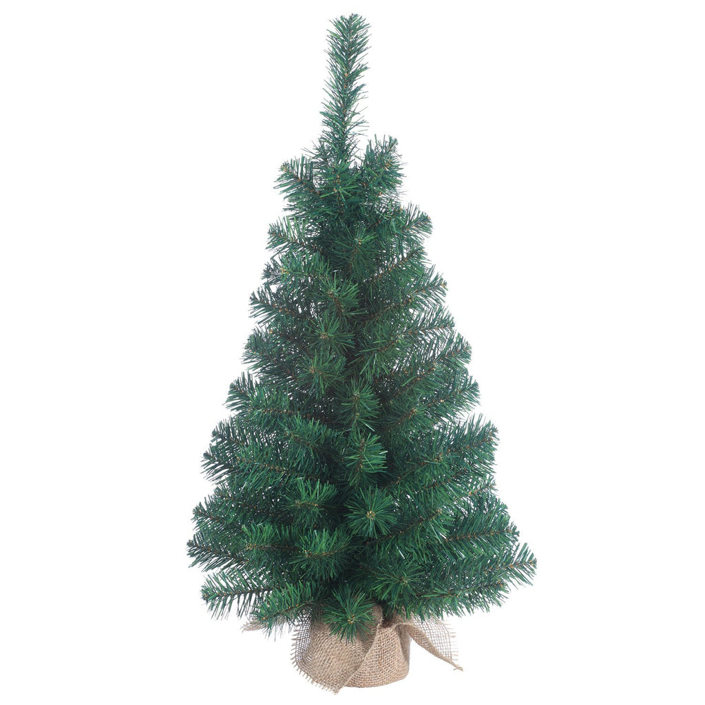 30 Inch Tabletop Christmas Balsam Pine Tree with Burlap Wrapped Base, Artificial Pine Tree