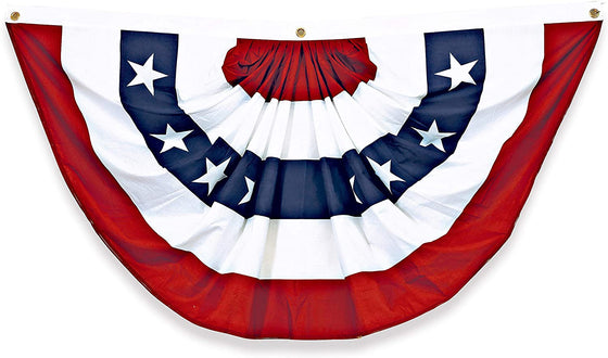 TenWaterloo American Flag Bunting 75 Inches Long x 40 Inches High in Woven Cotton and Polyester with Grommets