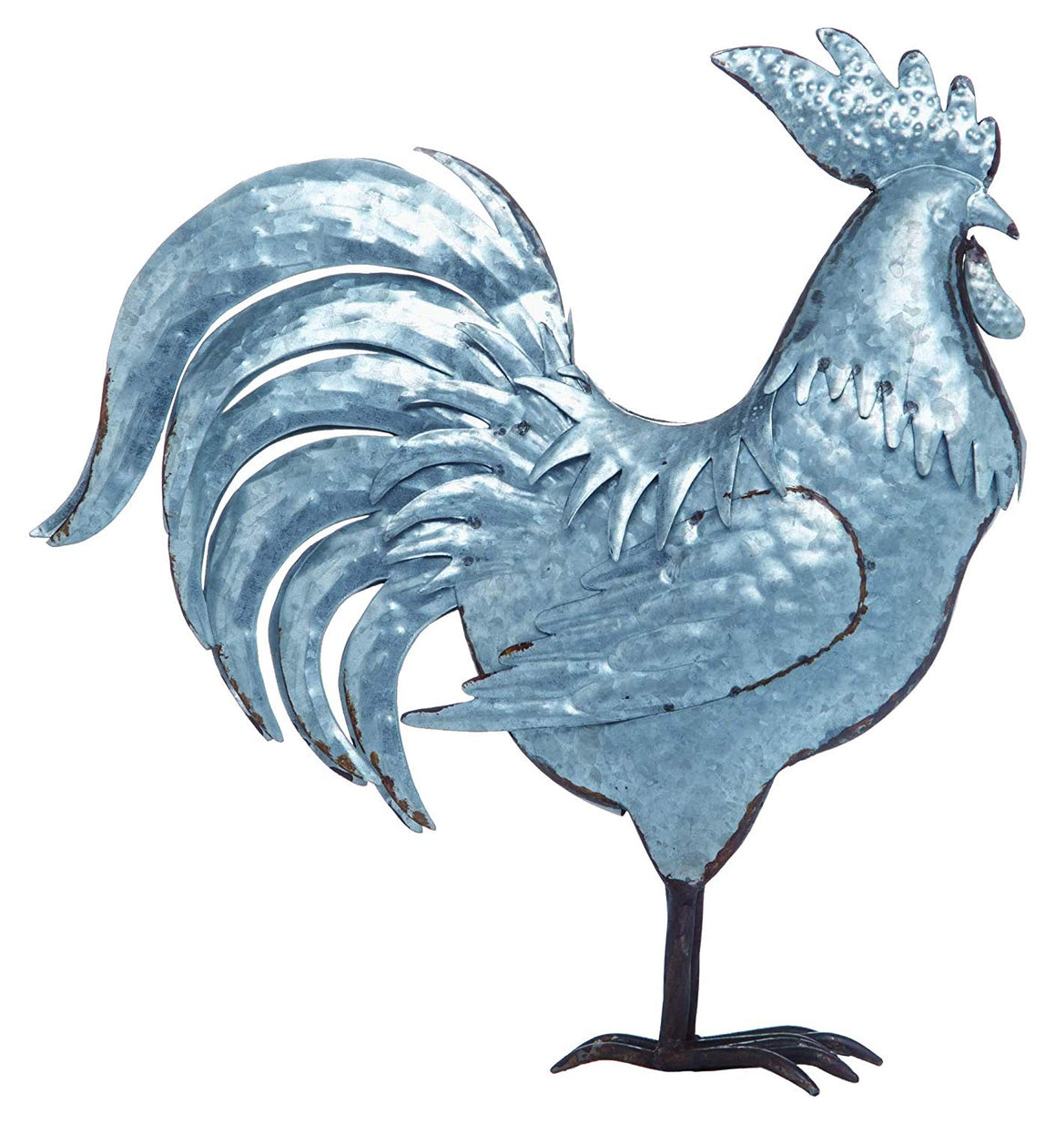 Transpac Metal Silver Spring Farmhouse Rooster Decor